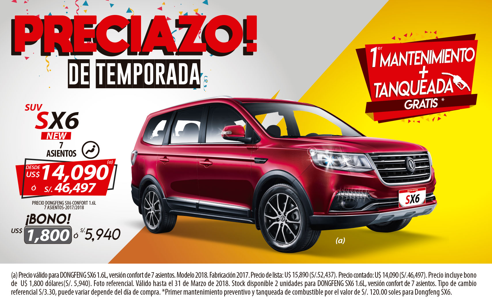 PROMOCION DONGFENG SX6